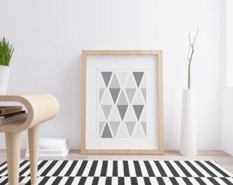 Scandinavian Geometric Print,Nordic Black and White Art,Finnish Design Illustration, Modern home decoration,Scandinavian Interior,Retro Art