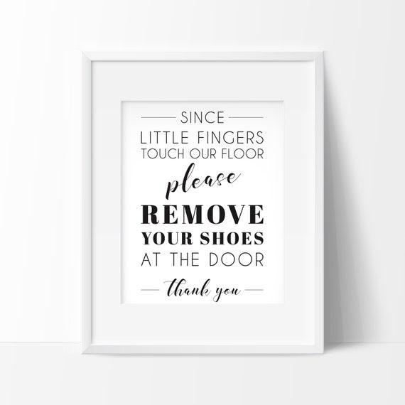 Affiche Enlever Les Chaussures à Imprimer Affiche Scandinave Décoration Nordique Affiche Nordique Imprimé Citation