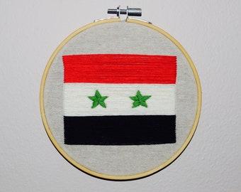 Syrian Flag Embroidery Hoop