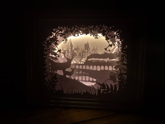 Welcome to Hogwarts.... Harry Potter inspired Light up Shadow Box