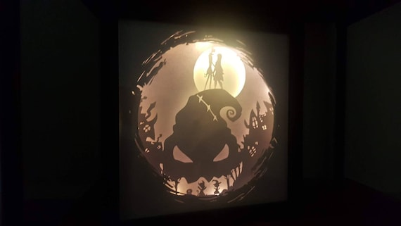 For It's Plain To See We're Simply Meant To Be.... Nightmare Before Christmas inspired Light up Shadow Box