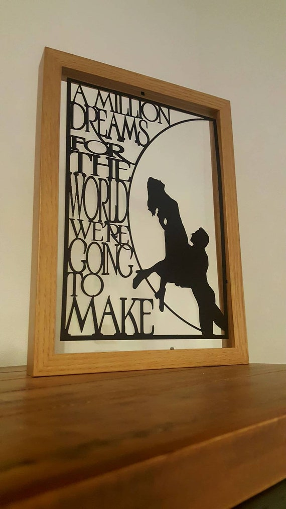 A Million Dreams.....Greatest Showman Inspired Paper Cut in Floating Frame