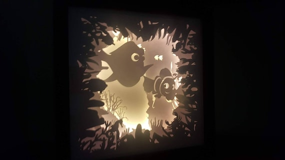I Look At You And I'm Home.... Finding Nemo inspired Light up Shadow Box