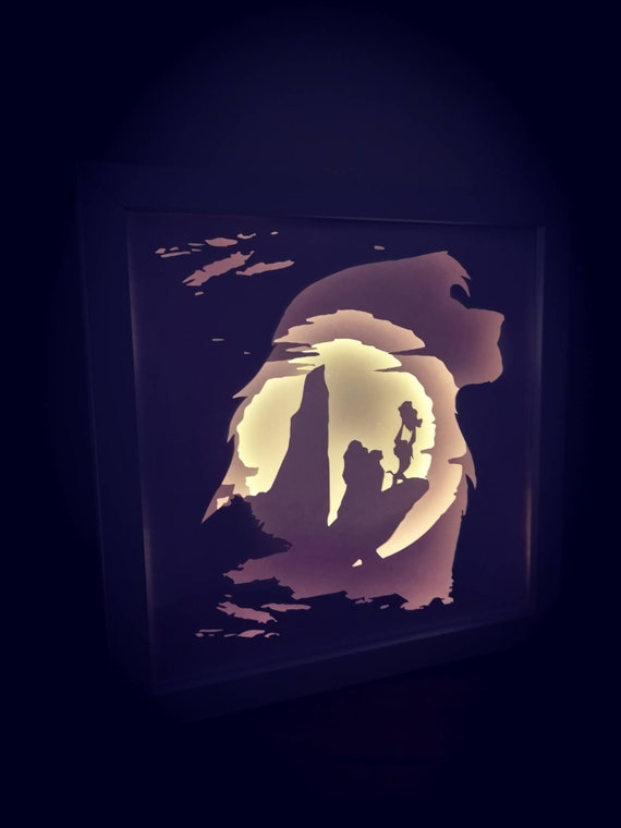 Circle of Life.... Lion King inspired Light up Shadow Box
