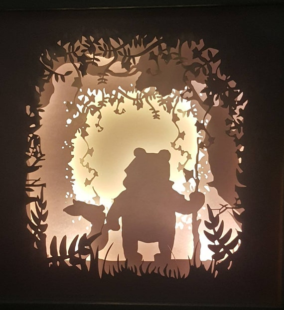 A friend is one of the nicest things you can have and one of the best things you can be....Winnie the Pooh inspired Light up Shadow Box