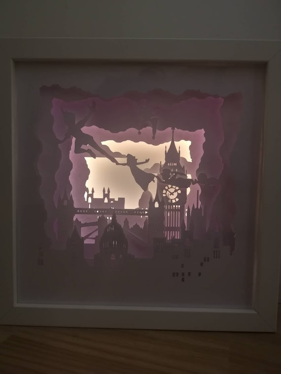 Second star to the right and straight on till morning.... Peter Pan inspired Light up Shadow Box