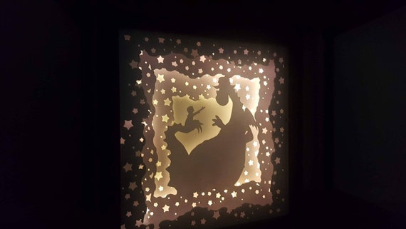 As Sure As Rivers Flow, I'll Never Let You Go....Pete's Dragon inspired Light up Shadow Box