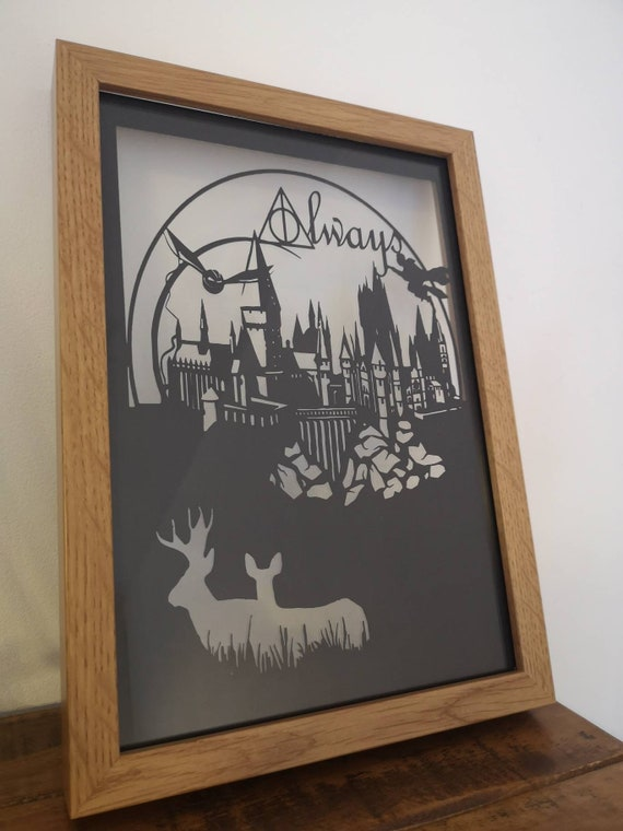 Always - Harry Potter inspired Paper Cut in Floating Frame