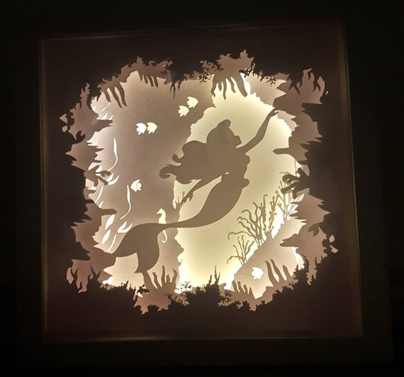 Part of Your World - The Little Mermaid inspired Light up Shadow Box