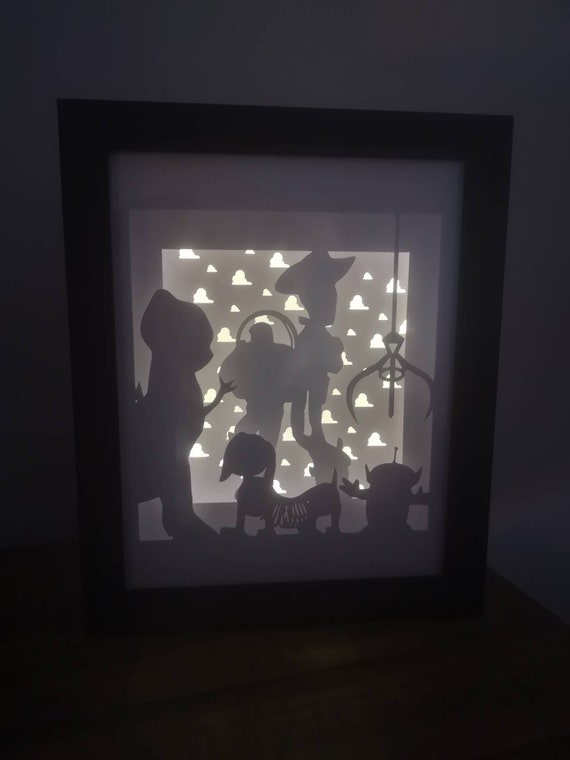 You Got A Friend In Me.... Toy Story inspired Light up Shadow Box Lightbox Papercut Artwork