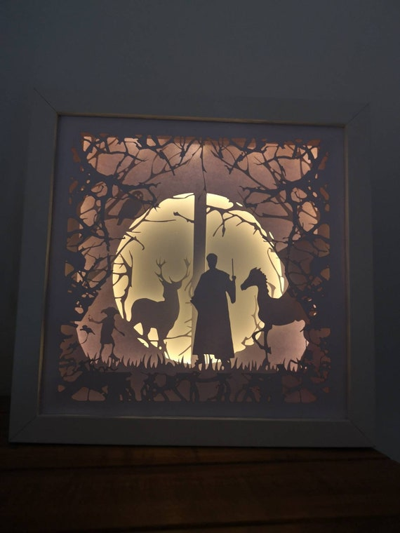 The Forbidden Forest.... Harry Potter inspired Light up Shadow Box