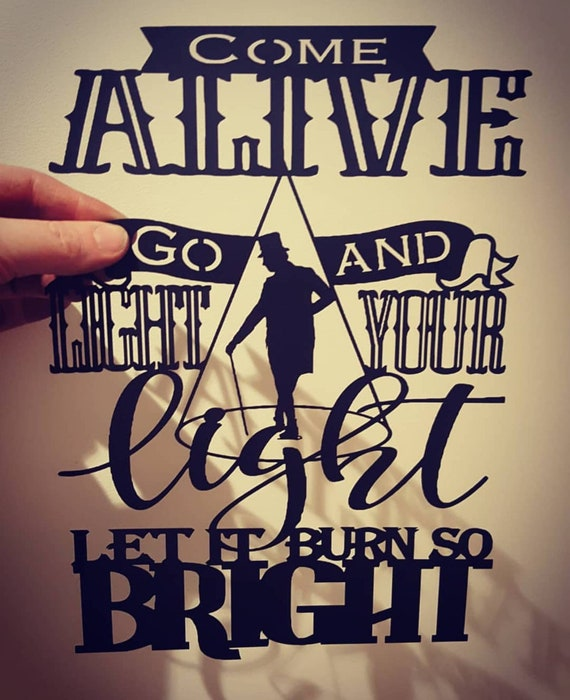 Come Alive.....Greatest Showman Inspired Paper Cut in Floating Frame