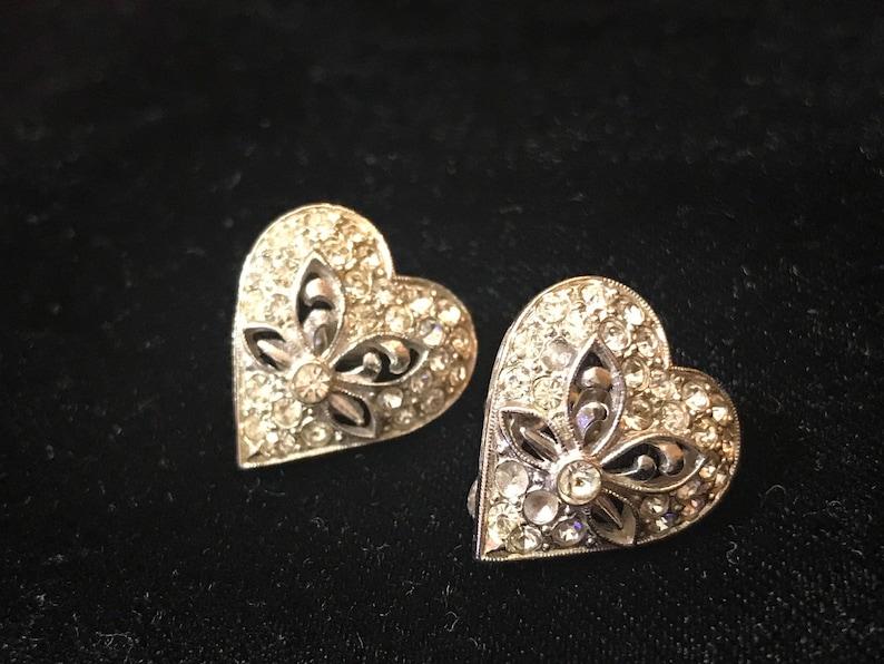 c9ebd42db47 ORA Earrings Designer Signed Rare Art Deco Screw Back   Etsy