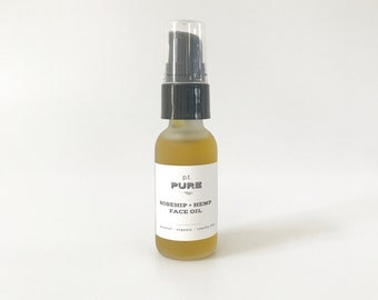 Organic Rosehip + Hemp Oil Face Serum