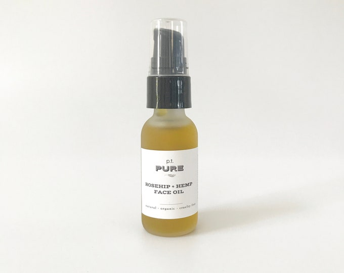 Featured listing image: Organic Rosehip + Hemp Oil Face Serum