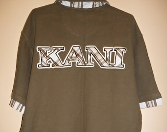 KARL KANI shirt vintage hip-hop shirt, green shirt, 90s hip-hop clothing, 1990s hip hop shirt, OG, gangsta rap, size L
