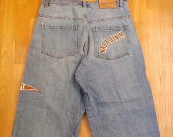 Dada Supreme jeans, vintage Damani baggy jeans, 90s hip-hop clothing, 1990s hip hop shirt, OG, gangsta rap, size W 36