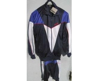 New ADIDAS tracksuit, blue vintage Adidas track suit, Adidas set, jacket pants hip-hop suit size M Medium D6 NWT