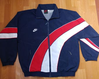 2232f7095fd NIKE jacket, vintage tracksuit jacket windbreaker, old school jordan 90s  hip hop clothing, 1990s hip-hop, rap polyester size XL Made in USA
