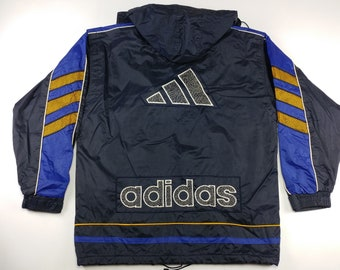 Adidas Jacke windbreaker Equipment Vintage oversize grün