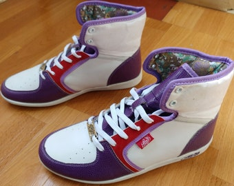 03786a9d1f2 KARL KANI sneakers, deadstock vintage hip hop shoes, 90s hip-hop clothing  1990s basketball old school New Old Stock womens size 8 US 7 uk