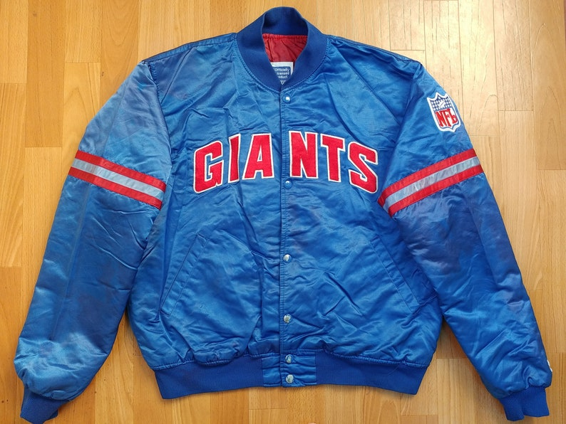 NFL STARTER New York Giants Jacket vintage coat parka  1fba1e418