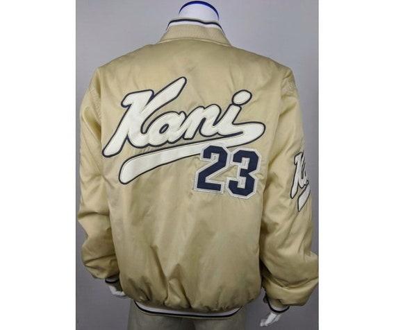 Karl Kani jacket, vintage beige hip hop bomber, Br
