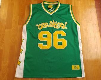 Vintage hip hop jersey, Old School t-shirt of 90s hip-hop clothing, 1990s basketball tank, OG, gangsta rap, ghetto Fubu rap size XL