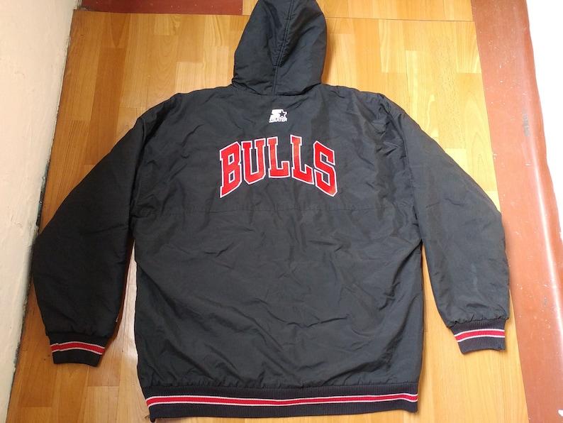 afc98404cb4cd3 NBA STARTER Chicago Bulls jacket full zip black vintage