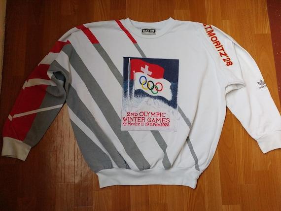 hip Vintage vêtements hommes Moritz crewneck Adidas rouge Jeux olympique 1928 pull80 école s vieille d'hiver St XL hoptaille Sweatshirtveste QrBodCWxe