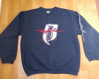 Ruff Ryders sweatshirt, vintage DMX hoodie 90s hip-hop clothing, blue basketball shirt, 1990s hip hop sweat shirt, gangsta rap, size L Large