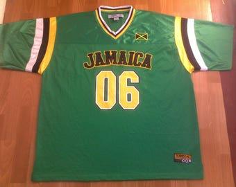 JAMAICA t-shirt vintage lowrider jersey vintage Los Angeles hip hop t-shirt 90s hip-hop clothing LA Impala Chicano, gangsta rap size XXL 2XL