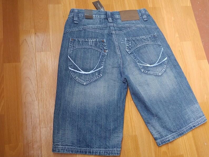 old school 1990s hip hop gangsta New KARL KANI shorts deadstock denim jeans 90s hip-hop clothing baggy pants vintage size W 32 W 34 NWT