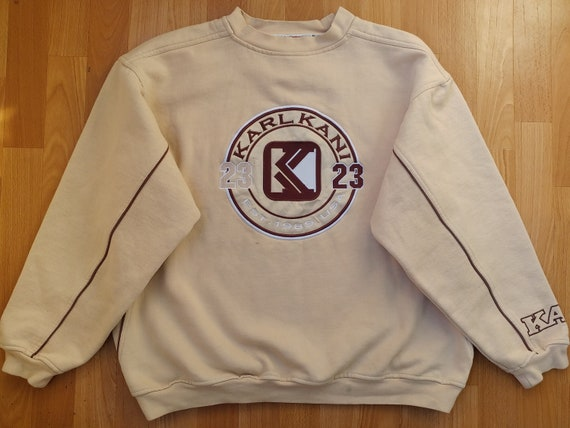 og old school Kani shirt gangsta rap black hoodie of 90s hip-hop clothing size M Medium 1990s hip hop shirt KARL KANI sweatshirt