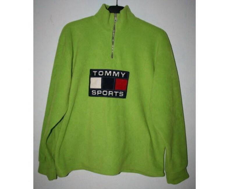 33d2525b TOMMY HILFIGER sweatshirt vintage neon green shirt 90s | Etsy
