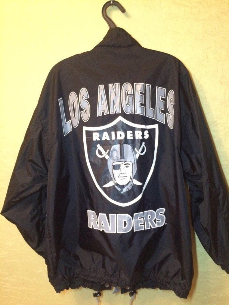 buy online 5e868 09de2 STARTER Los Angeles RAIDERS windbreaker, Oakland Raiders jacket, Apex One,  football NFL, 90s hip-hop clothing, 1990s hip hop og, nwa, size L