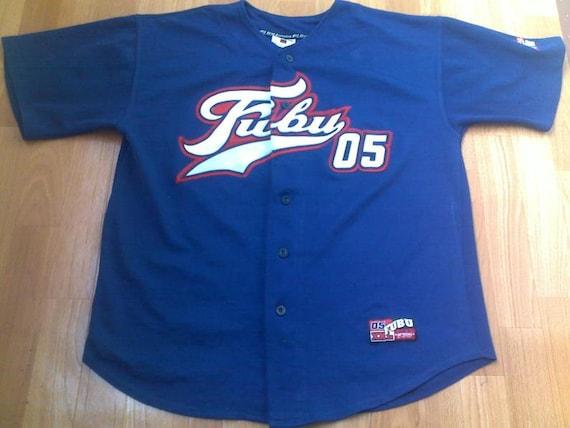 FUBU jersey, blue vintage hip hop t-shirt, 90s hip
