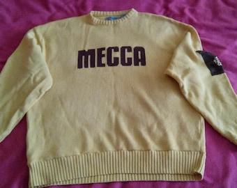 MECCA sweatshirt, sweater shirt of vintage 90s hip-hop clothing, 1990s hip hop shirt, OG, gangsta rap, size XXL 2XL