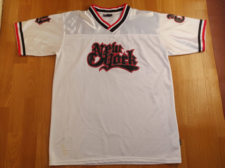 0f6a7052f New York t-shirt vintage lowrider jersey vintage NYC hip hop