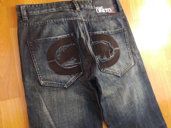 de jeans baggy vintage Ecko des Etsy 90 jeans hip années hop Unltd zvqfqA1R