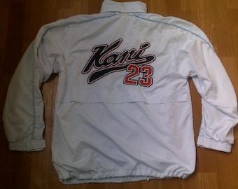 KARL KANI jacket sewn windbreaker vintage pullover 90s hip-hop clothing, 1990s hip hop shirt, og, gangsta rap, size M RARE