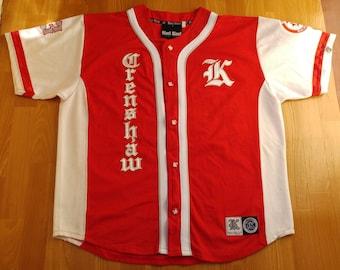 KARL KANI jersey, Crenshaw, vintage hip hop t-shirt, 90s hip-hop clothing, 1990s Los Angeles shirt rap, old-school, lowrider, og, size XL