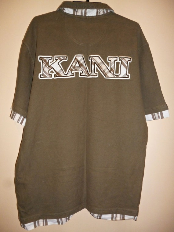 KARL KANI shirt vintage hip-hop shirt, green shirt