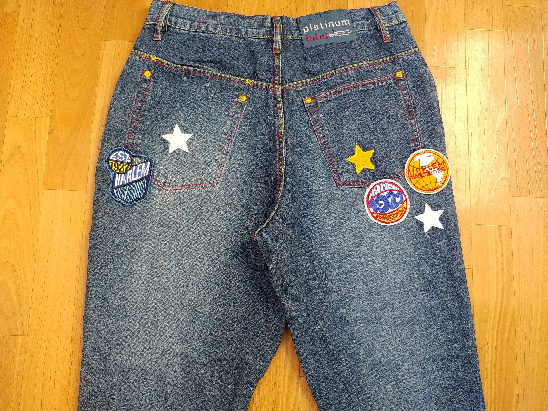 Details about  /new youth platinum Fubu Harlem Globetrotters limited edition denim pants.