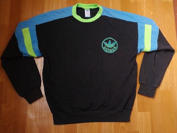 outlet online uk availability pretty nice ADIDAS sweatshirt, old school black vintage hip hop shirt, 80s 90s hip-hop  clothing, 1990s gangsta rap, size M Medium (D6) Made in Hungary