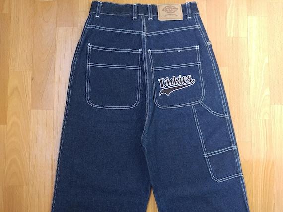 1990s hip hop shirt size W 34 Dickies jeans old school carpenter pants blue vintage baggy jeans 90s hip-hop clothing gangsta rap OG