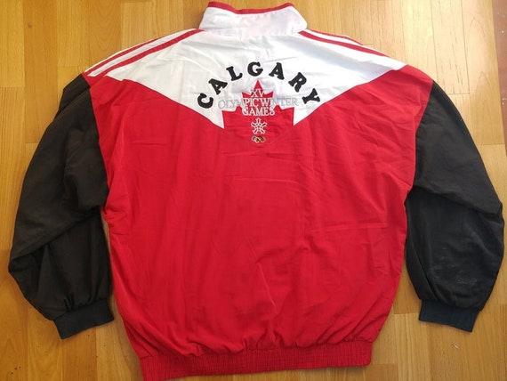Adidas Vintage Olympic Winter Games St. Moritz 1928 Crewneck Sweatshirt, Jacke, 80er Jahre alten Schule Hip Hop Kleidung, rote Herren Größe XL