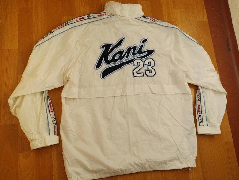 1990s hip hop Karl Kani jacket size XL Kani windbreaker vintage 90s hip-hop clothing old school streetwear white OG gangsta rap