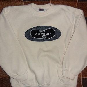 Wu-Wear Front-Back Crewneck S-XXL Sweater Oldschool Hip Hop 90s WU022