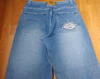 Dickies jeans, vintage baggy jeans 90s hip-hop clothing, old school carpenter pants, 1990s hip hop shirt, OG, gangsta rap, size W 36